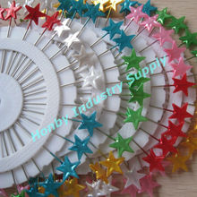 wedding favor, 55mm charming star shape pearl straight pin