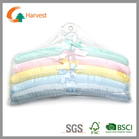 GSM005 PVC covered satin padded clothes hanger