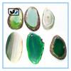 HOT factory China promotion Freeform gemstone drilled polished natural agate slices wholesale
