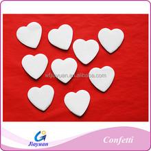 2015 Wholesale White Love Heart Paper Confetti for Party