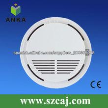 aprobado por la ce fuego 9v inalámbrica detector de humo óptico