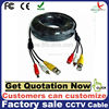 5m -50m BNC DC rca plug cable for CCTV Camera and DVRs black color coaxial Cable