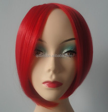 Hot Red Beauty Short Bobo Synthetic Cosplay Wig