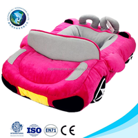 Soft fashion pet home car shaped pink luxury pet bed cute washable pet hammock bed
