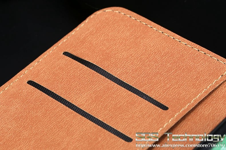 2014 Newest!! Top Quality Genuine Leather Wallet  Case For HTC M8 Mobile Phone Bag Cover With Stand Function Retail  SGS03888