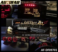 AUTOFAB - DF-LINK METER ADVANCE ZD Display Meter 10 in 1 volt/water temp/oil temp/oil press/rpm/speed/boost meter ECT AF-DF09701