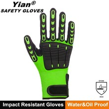 SAFETY OEM high Impact Cut Resistant Protective Gloves with tpr