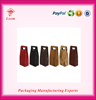 New promotional fashion pu leather two bottle wine boxes wine carrier wholesale