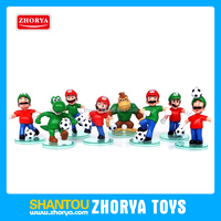Fun design Japan Nintendo anime world cup mario bros figure 5 inch 8 style football team super mario action figure for kids toys