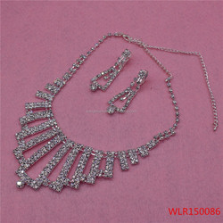 The best price princess rhinestone necklace and earrings for sale