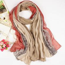 Korea muffler scarf cotton square scarf colorful shred scarf