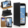 100% Genuine Leather Wallet Flip Stand Case Cover Pouch For Motorola Google Nexus 6