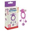 Popular Designed TPE Transparent Pink Swinging Balls Cockring,Transparent Purple Foil Pack Vibrating Penis Ring Male Sex Toys