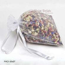 3.6'' x 4.8'' White Organza Gift Pouch Small Organza bag Mini Wedding Favor Jewelry Candy Bag