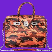 Chinese supplier famous brand handbags 2015 popular Camouflage leather bag EMG3841