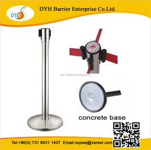 Universal 4-way belt clips barrier retractable crowd control belt stanchions