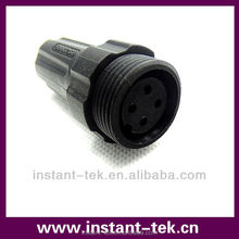 M22 auto electrical 8-pin waterproof connector bulkhead terminal