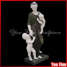 marmo giardino donna ragazzo e ragazza giardino angelo statua di pietra