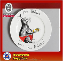 rabbit cartoon ceramic Charger plates