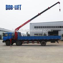 China máquina 6 tonelada grúa torre para camiones sq6.3sa2