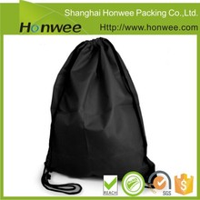 promotional items plain black cotton canvas drawstring bag