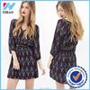 Yihao Partially lined chiffon dress style fashion chiffon dress women casual dress Wholesale high fashion printed womens dress
