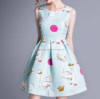 OEM & ODM service Chinese manufacturer designer sleeveless A-line sweet dress for girl in wholesale price