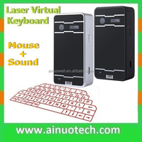 external wireless virtual bluetooth keyboard mouse for ipad laptop smartphone projection keyboard