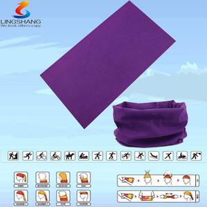 Lsb-0243 Ningbo lingshang 100% polyester dış boyun tüp çok fonksiyonlu kesintisiz yapmak eşarp headbands