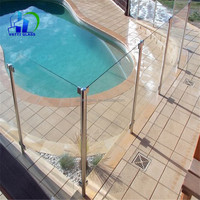 tempered glass fence panels Toughened glass outdoor glass panels