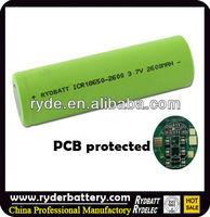shenzhen 18650 lipo battery for headlight led flashlight