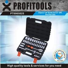 """32pcs 1/4""""&3/8""""&1/2"""" high quality auto repair tool box set"""