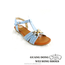ankle strap small wedge TPR outsole material fashion summer girls pure color sandals