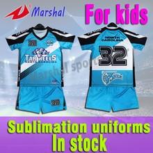 qualidade superior projeto sua própria sublimação crianças camisa de futebol