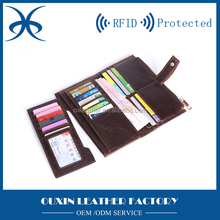 leather rfid wallet men durable set of card holder and wallet promotion leather goods business cooperate leather wallet
