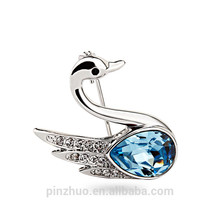 Broche de cristal de color azul claro, hecho a mano la tela coreano broches de cristal