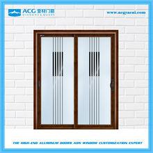 Long service life aluminum waterproof obscure glass toilet sliding door