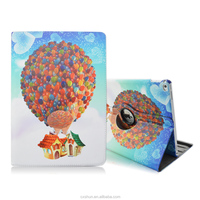 360 Rotating Style Colorful Balloon Design 12.9inch Folio Stand PU Leather Tablet Cover Case For iPad Pro with Elastic Belt