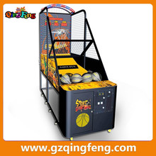 Qingfeng popular coin operated basketball shooting machine for sale