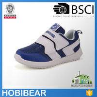 HOBIBEAR new deisgn light weight white sport running shoes for kids