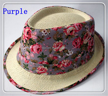 high quality fashionable children paper panama hat