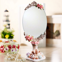 Resin Promotion Limited 2015 Decoration Cosmetic Retro Design pink Mirror BY001