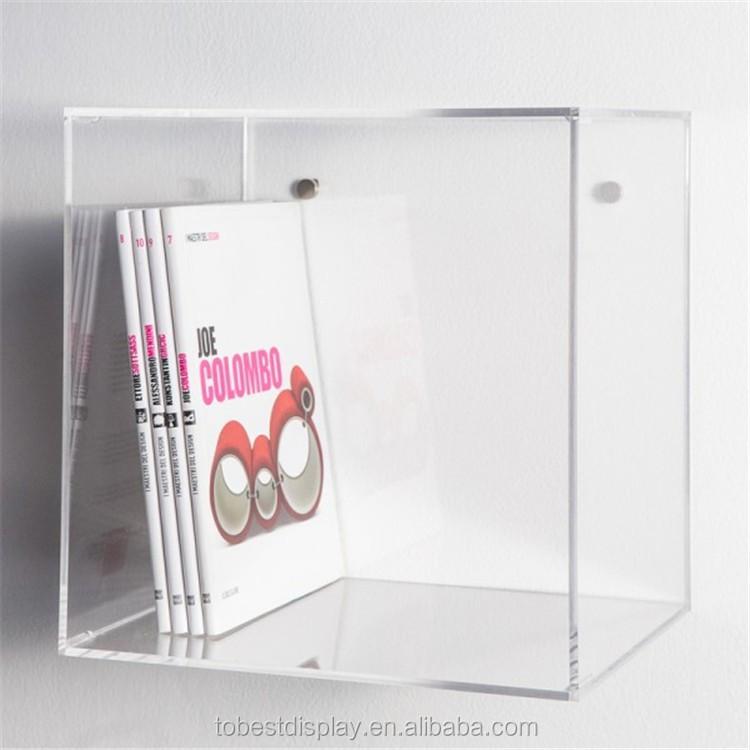 Acrylic Box To Hang On Wall : Clear acrylic plastic wall cube shelves squre box books