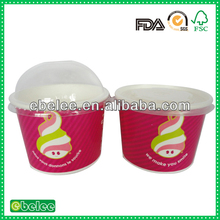 food grade ice cream tub with lid and spoon