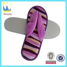 knited fabric composite sponge cute girl half sole slipper