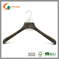 wooden suit hanger with square head