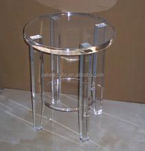 Transparent pmma acrylite plastic round coffee table