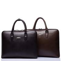 Luxury leather notebook bag men business executive bag