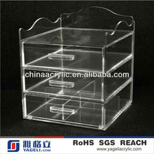 New Designed 3 Drawers Acrylic Makeup Organizer with Extra Storage on Top
