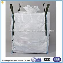 big bag, bulk bag,1.5 ton PP Jumbo Bagfertilizer /peanut/sugar/ corn/ rice/cinder/iron ore/copper mine/ salt/sand/cement PP bag